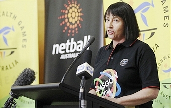 Australian netball coach Lisa Alexander announces the team for the Glasgow 2014 Commonwealth Games in Canberra ©Getty Images
