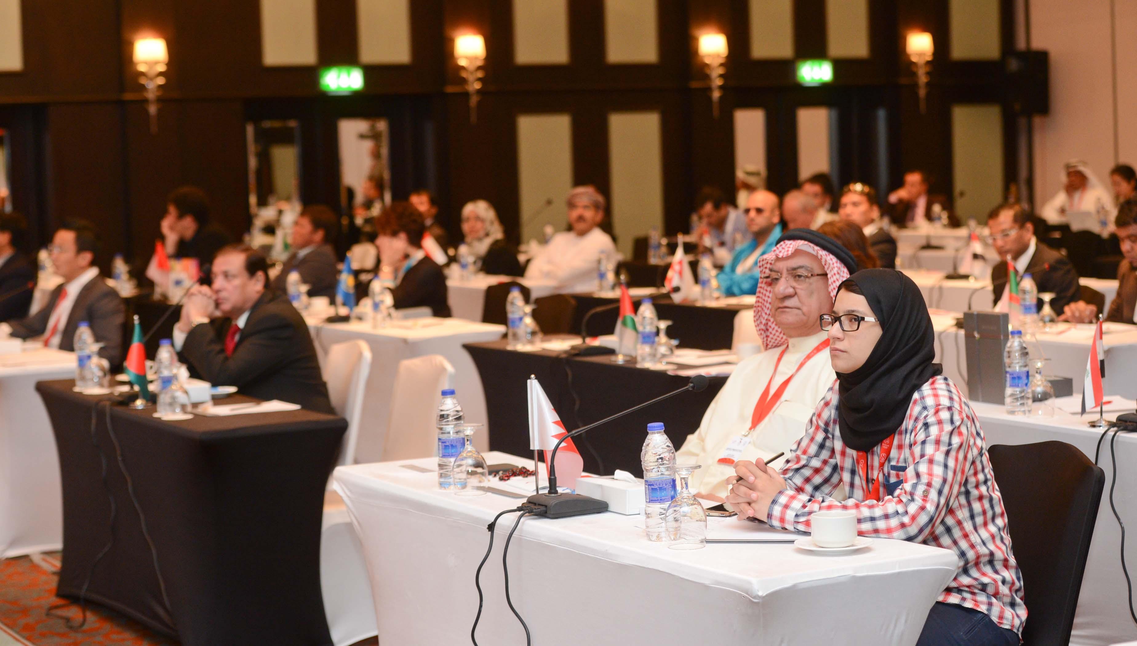 Delegates listen to presentations during the OCA Regional Forum in Bahrain ©BOC