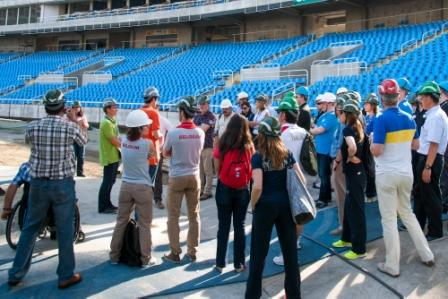 Delegates visit the Joao Havelange Stadium during the Open Day ©Rio 2016