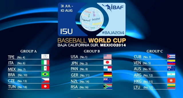 Eighteen teams are set to do battle at this year's Under-15 Baseball World Cup in Mexico ©IBAF