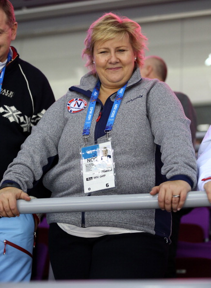 Norwegian Prime Minister Erna Solberg was an enthusiastic supporter at Sochi 2014 but may be less keen to see the Winter Olympics in her own country ©Getty Images