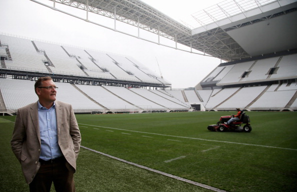 FIFA secretary general Jérôme Valcke has expressed concerns over three World Cup Stadium during a visit to Brazil ©FIFA via getty Images