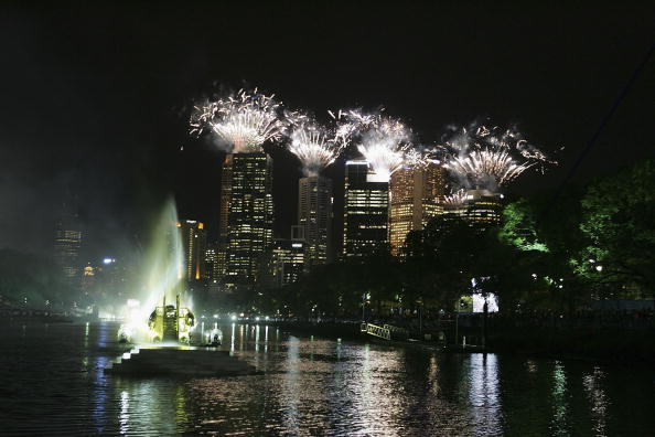 Fireworks exploded over the Yarra River and Melbourne for the Opening Ceremony ©AFP/Getty Images