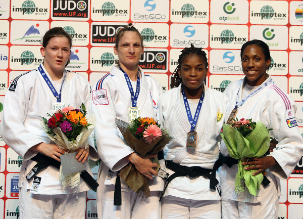 France have retained their spot atop the Baku Grand Slam medal table with Anne-Laure Bellard taking gold in the women's under 63kg category ©IJF