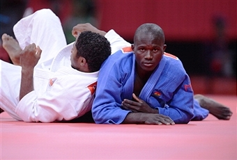 Ghana's Emmanuel Nartey is aiming to become the first African judoka to medal at a Commonwealth Games ©AFP/Getty Images