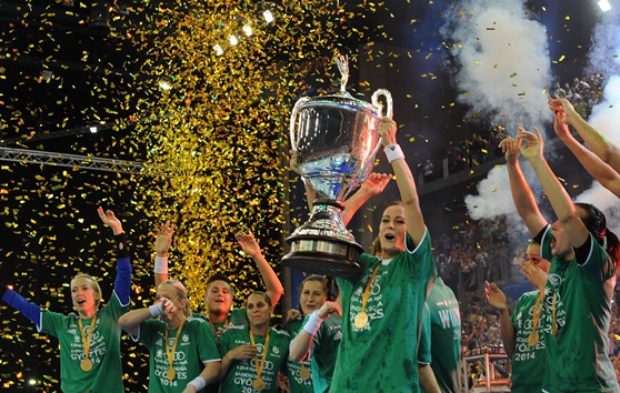 Győri Audi ETO KC have secured the EHF Champions League title with victory over ZRK Buducnost ©EHF
