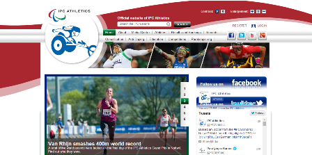 International Paralympic Committee Athletics says its new-look website gives the sport a bolder digital identity ©IPC Athletics