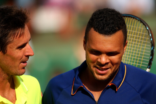 Jo-Wilfred Tsonga dispatched compatriot Edouard Roger-Vasselin in his first round fixture as he bids to become the first man to lift the French Open title since Yannick Noah in 1983 ©Getty Images
