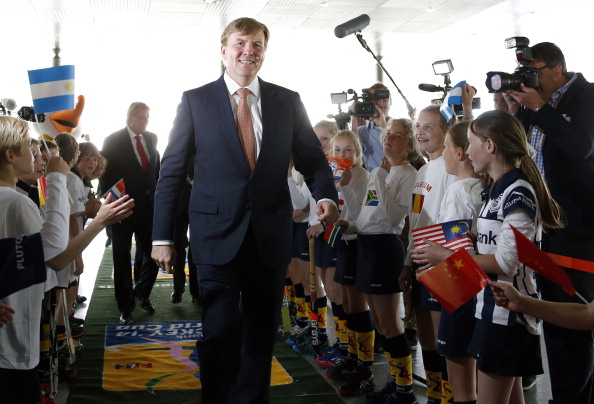 King Willem-Alexander was in attendance at the Opening Ceremony of the Rabobank Hockey World Cup 2014 in The Hague ©AFP/Getty Images