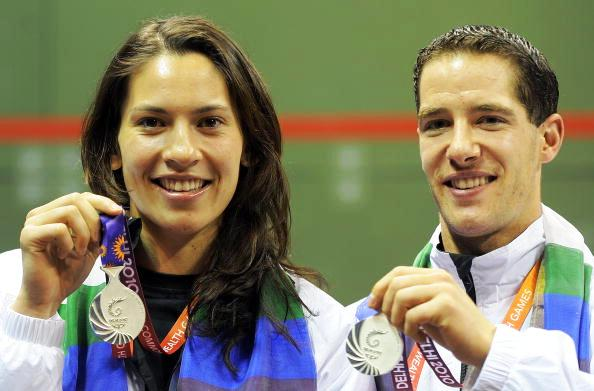 King and Martin Knight will team-up once again in the mixed doubles after securing silver at Delhi 2010 ©AFP/Getty Images