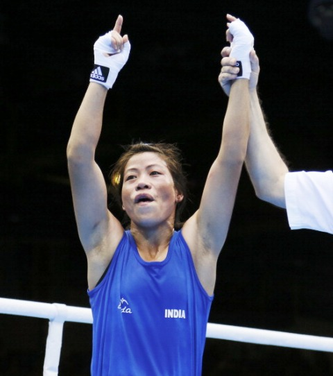 Kom won India's only boxing medal at London 2012 with her bronze in the flyweight division ©AFP/Getty Images