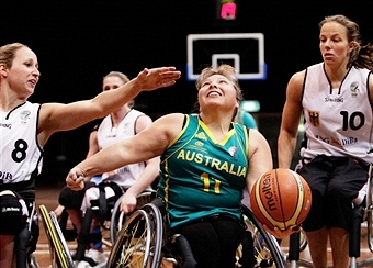 Kylie Gauci is one of 12 players named to the Australian Gliders squad for the Women's Wheelchair Basketball World Championships ©Getty Images