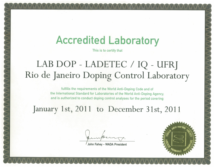 LADETEC's accreditation has been revoked by the World Anti-Doping Agency ©LADETEC