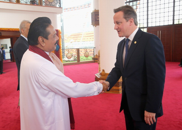 The possible presence of Mahinda Rajapaksa, pictured with British Prime Minister David Cameron last year, at Glasgow 2014 has provoked multiple concerns ©Getty Images