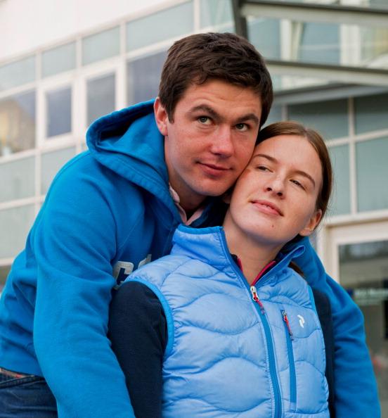 Maria Komissarova with boyfriend Alexei Chaadaev during rehabilitation in Munich ©Getty Images