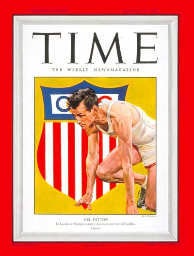 On August 2, 1948 Mel Patton became one of the few athletes to have ever featured on the cover of TIME magazine ©TIME Magazine