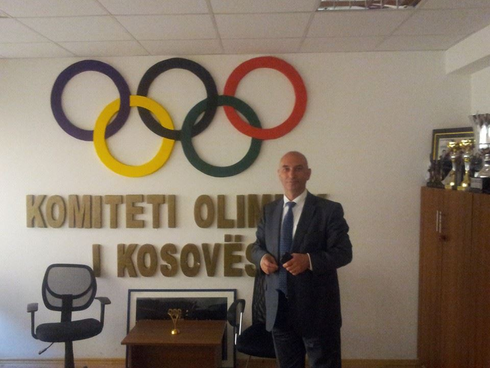 Kosovo Olympic Committee President Besim Hasani believes the the latest Kosovo football international will boost the country's prospects of Olympic qualification ©ITG