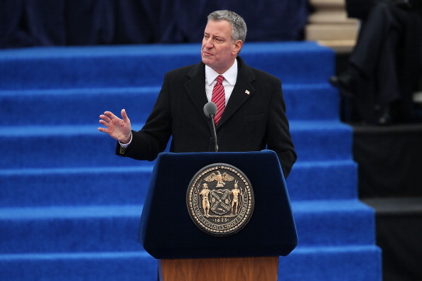 New York Mayor Bill de Blasio has withdrawn the city's potential bid for the 2024 Olympics and Paralympics ©Getty Images