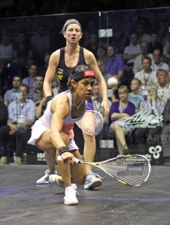 Nicol David will be keen to avenge Laura Massaro after the English player won the 2013 final ©SquashPics