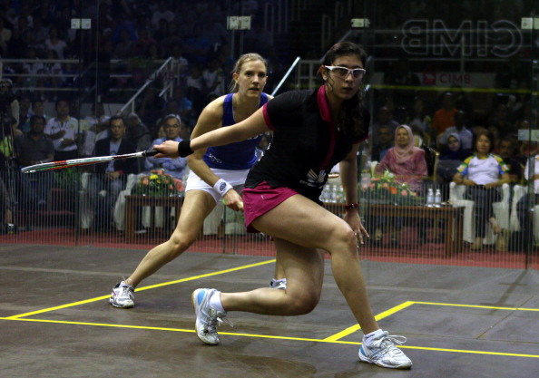 Nour El Sherbini runner up at the 2014 World Championships in Penang will be hoping to lead Egypt to a defence of their World Cup title ©Getty Images