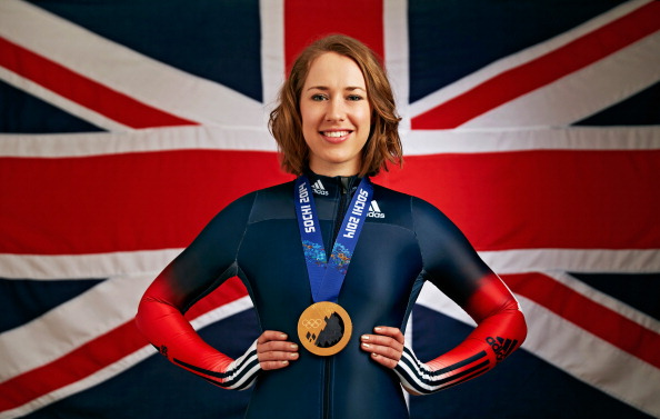 Olympic champion Lizzy Yarnold has visited aspiring Olympians at a Power2Podium trial to offer them motication and advice ©Getty Images