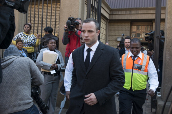 Oscar Pistorius leaves court after being told he will spend up to a month having his mental health assessed as an outpatient ©AFP/Getty Images