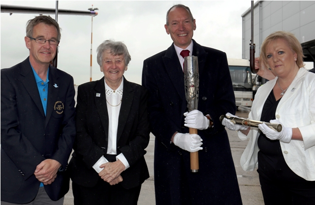 From left to right: CGCW chief executive Chris Jenkins, CGCW President Anne Ellis, Wales Minister for Culture and Sport, John Griffiths and CGCW chairman Helen Phillips ©CGCW