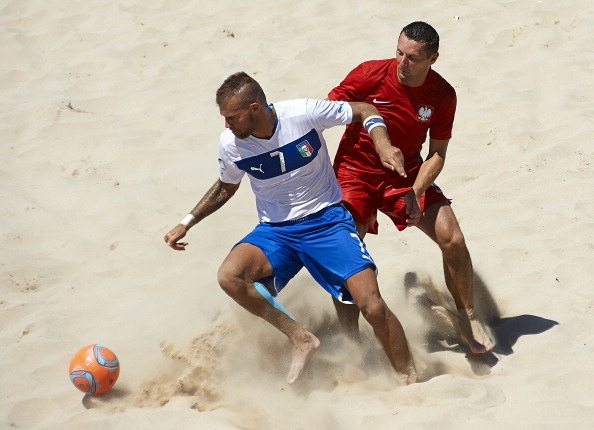 Qualification for beach soccer will take place at a series of events this summer ©Getty Images