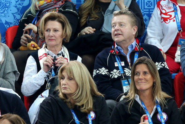 """Norwegian Olympic and Paralympic Committee and Confederation of Sports President Børre Rognlien, pictured at Sochi 2014 with Queen Sonja of Norway, has claimed that it is the country's """"moral obligation"""" to bid for the 2022 Winter Olympics and Paralympics ©Getty Images"""