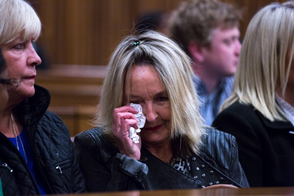 Reeva Steenkamp's mother June has spent another day listening to evidence and legal discussions at the trial of Oscar Pistorius ©Getty Images