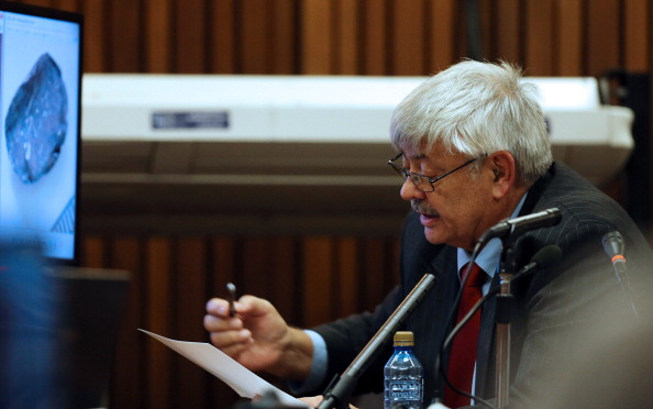 Retired forensics expert Tom Wolmarans testified for the defence on the latest day of the trial today ©AFP/Getty Images