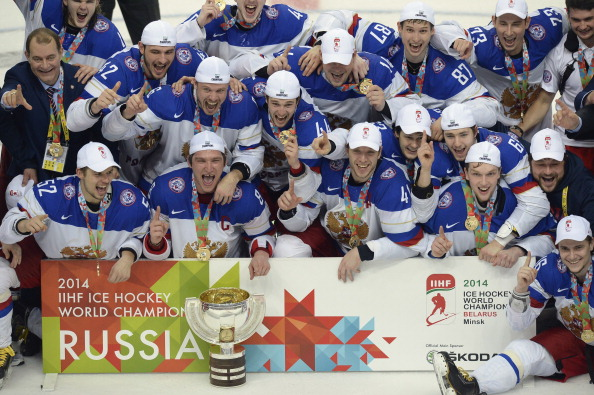 Russia have been crowned champions of the 2014 IIHF Ice Hockey World Championships ©Getty Images