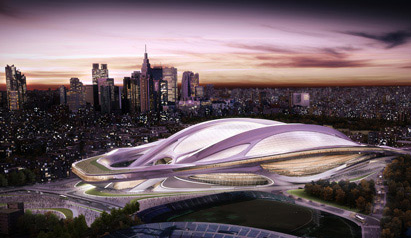 Several petitions have been launched against the proposed Olympic Stadium, pictured in an artistic impression ©Japan Sport Council