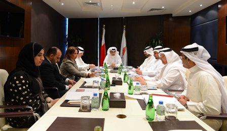 Shaikh Salman bin Ebrahim Al Khalifa chairs the Bahrain Olympic Committee's third board meeting ©Bahrain Olympic Committee