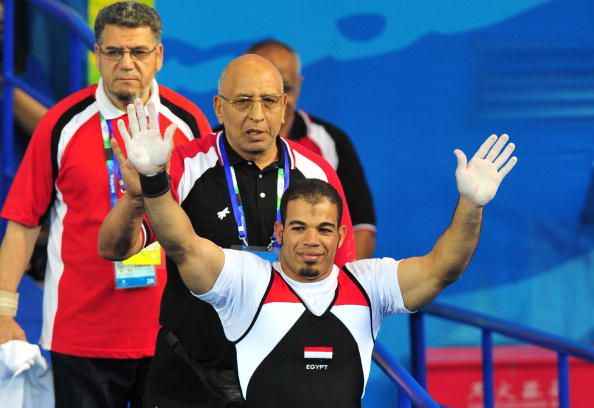 Sherif Othman broke his own world record four times to win World Championship gold in April ©Getty Images