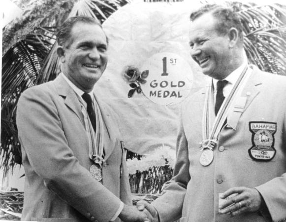 This year marks the 50th annivesary of the Olympic gold medal won by Sir Durward Knowles and the late Cecil Cooke at Tokyo 1964 ©Hulton Archive/Getty Images