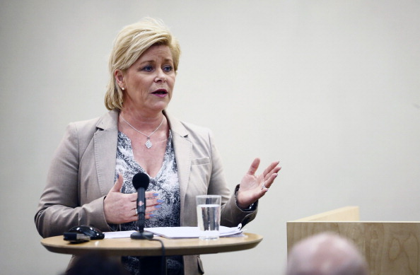 Siv Jensen's Progress Party has voted against an Oslo 2022 bid ©AFP/Getty Images