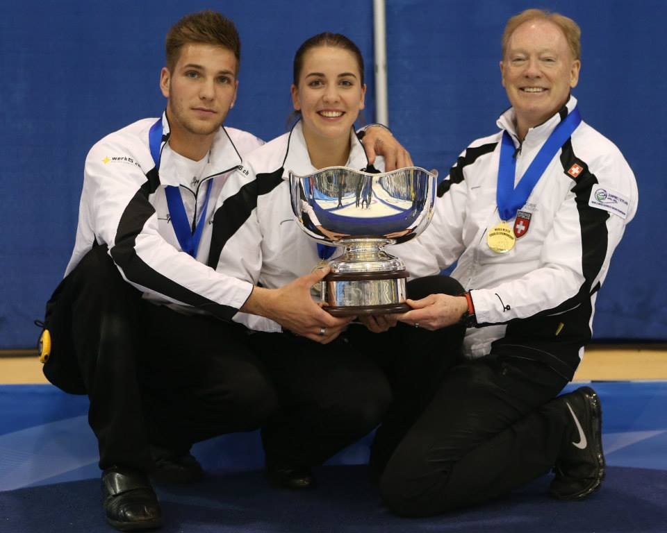 Switzerland are the 2014 World Mixed Doubles Curling Championship gold medallists ©World Curling Federation