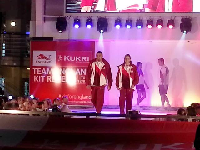 Team England athletes were on the catwalk today in Manchester as the official kit for Glasgow 2014 was launched ©ITG