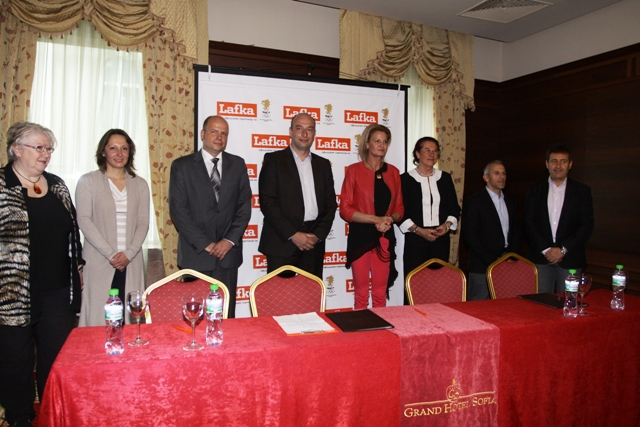 The Bulgarian National Olympic Committee has announced a new partnership with retail chain Lafka ©BOC
