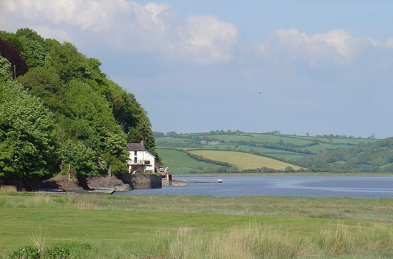 The Glasgow 2014 Queen's Baton Relay will visit Dylan Thomas' boathouse as it tours Wales ©Wikipedia