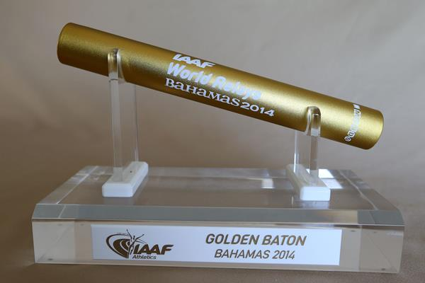 """""""The Golden Baton Nassau 2014"""" will be awarded to the overall best team at the inaugural IAAF World Relays ©Getty Images"""