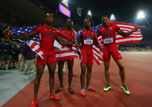 The US quartet are poised to lose the 4 x 100m relay silver medal they won in London ©Getty Images