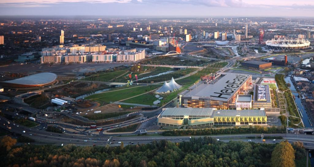 The development of a creative and digital cluster on Queen Elizabeth Olympic Park has been given the go ahead ©Here East