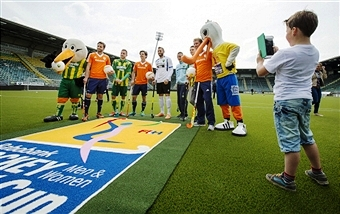The handover of the Kyocera Stadium in The Hague has been conducted as the build-up to the 2014 Hockey World Cup continues ©AFP/Getty Images