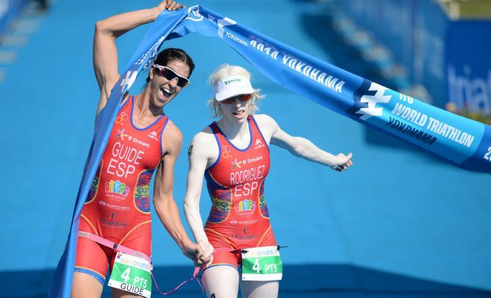 The inaugural ITU World Triathlon Series event for Para-triathletes saw success for Spaniard Susana Rodriquez as she took victory in the women's visually impaired competition ©ITU