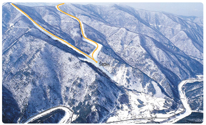 The new slope will be built on part of Mt Gariwang but will require a number of trees and forestry to be cut down causing an outcry from many environmental groups in South Korea ©Pyeongchang 2018
