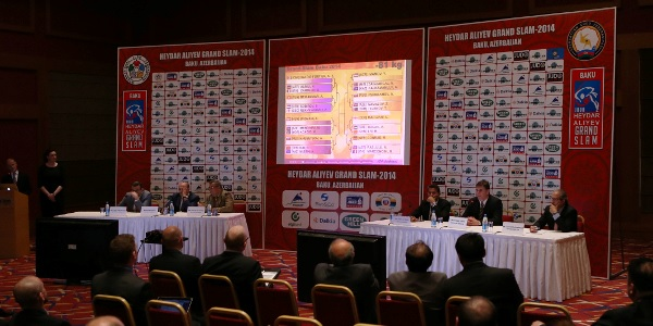 The official draw of the 2014 Baku Grand Slam took place today at the Park Inn Hotel ©International Judo Federation