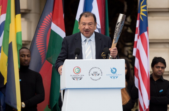 The two candidates in the race for 2022 were unveiled by CGF President Prince Tunku Imran in March ©AFP/Getty Images