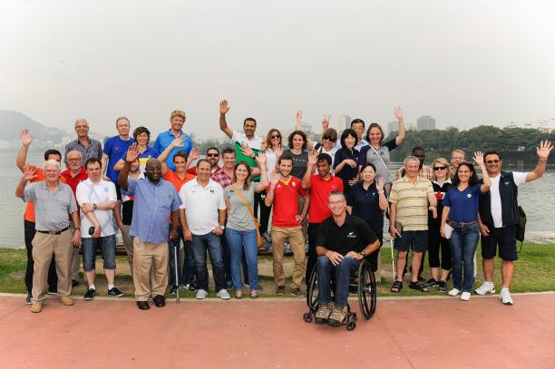 The visit consisted of 40 delegates from 17 different National Paralympic Committees ©Rio2016